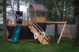 Building A Backyard Playground by How To Build A Pirate Ship Out Of Wood The Big Ship Click Here