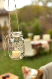diy rustic hanging mason jar candles ideas for wedding outdoor