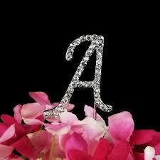ustensile de cuisine en m en 6 lettres lettre a strass cristal sur pic argenté décoration cake achat