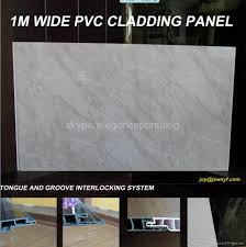 Bathroom Ceiling Cladding Pvc Panels 1m Width Pvc Wall Decorative Panel For Bathrooms Vision China