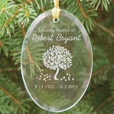 engraved in loving memory glass ornament memorial christmas