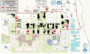 Colorado State University Campus Map by Cu Anschutz Medical Campus Rail Shuttle Facilities Management