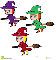 halloween background characters halloween set of three colorful witches stock vector image 60085879