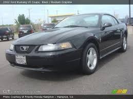 2002 Black Mustang Black 2002 Ford Mustang V6 Coupe Medium Graphite Interior