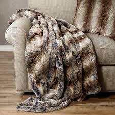 Faux Fox Fur Throw Faux Fur Pillows Blankets And Throws Arhaus