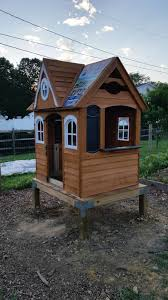 how to turn a playhouse into an enchanted chicken coop backyard