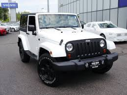 white jeep sahara 2 door gasoline jeep wrangler sahara in minnesota for sale used cars on