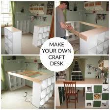Craft Desk Diy Craft Room Desk Diy Easy Project