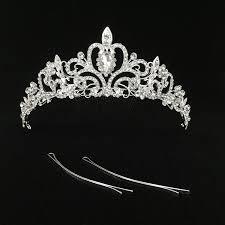 bridal tiara women bridal princess tiara crown with comb for