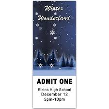 winter personalized ticket stumps