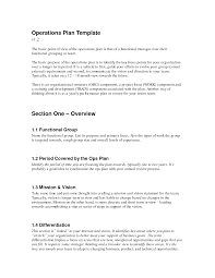 operation organization operational plan template business letter example 257818 b cmerge