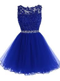 blue dress royal blue party dresses lace applique royal blue