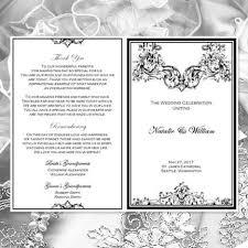 black wedding programs catholic church wedding program vienna black white wedding
