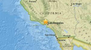 Earthquake Los Angeles Map three small earthquakes shake la area within 10 minutes lafd