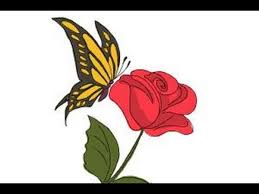 butterfly on a flower drawing best images collections hd for