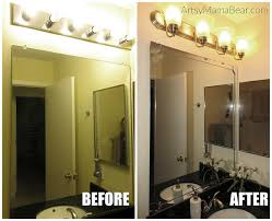 Discount Bathroom Lighting Fixtures 100 Dollar Bathroom Update Artsy Mama Bear