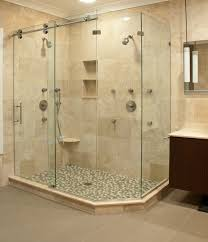 Bathroom Shower Door Matrix Series Frameless Slider Shower Door Enclosures By