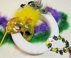mardi gras feather boas diy four big easy mardi gras wreaths crafts n coffee