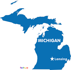 Detailed Map Of Michigan Michigan Maps Political Physical Cities And Blank Outline