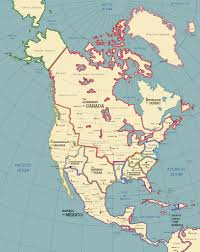 Ice Age Map North America by The North American Continent In 1928 A D By Spartan 127 On