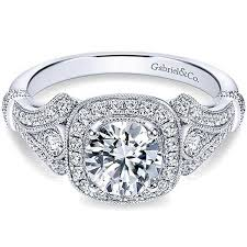 engagement style rings images Gabriel quot delilah quot vintage style diamond halo engagement ring jpg