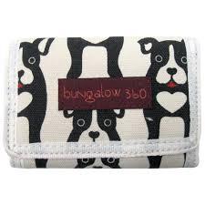 bungalow360 vegan tri fold wallet black dog u2013 alternative
