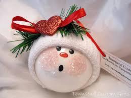 sparkle ornament snowman tree bulb