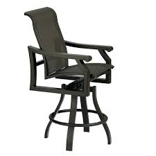 Tropitone Patio Chairs Bar Stool Outdoor Furniture Bellagio Sling Swivel Bar Stool Bar