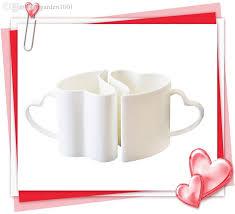 Heart Shaped Mugs 2017 Funny White Porcelain Mugs Thanksgiving Favors Bone China