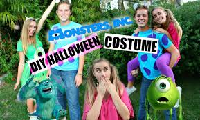 diy monsters inc inspired halloween costumes youtube