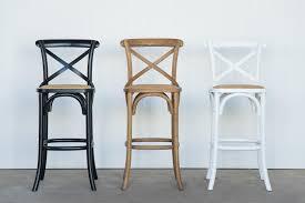 cafe bar stools inspiring provincial cross back bar stool natural oak black and