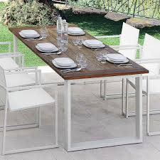 Teak And Stainless Steel Outdoor Furniture by Contemporary Table Teak Aluminum Stainless Steel Essence
