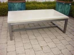 Concrete Coffee Table Concrete Coffee Table Mecox Gardens