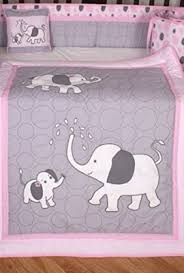 boutique pink gray elephant 13pcs crib bedding sets a kids boutique