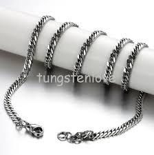 titanium chain link necklace images Titanium curb link necklace images jpg