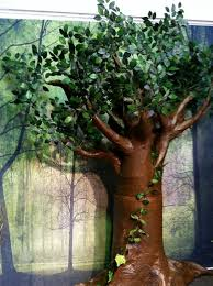 paper mache baobab tree then add your paper lots of it lots of