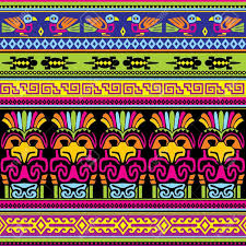 seamless background with animals mexican ornament mexican aztec