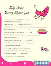 Funny Baby Shower Games For Guys - free printable baby shower nursery rhyme games
