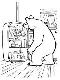 masha bear coloring pages download print mascha