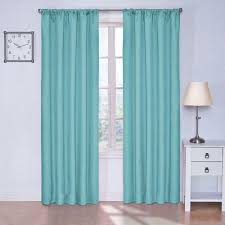 Cheap Turquoise Curtains Eclipse Kendall Blackout Turquoise Curtain Panel 63 In Length 1 2