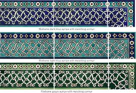 Blue Border Tiles Decorative Subway Tiles U0026 Borders Hand Painted By The Balian Studio