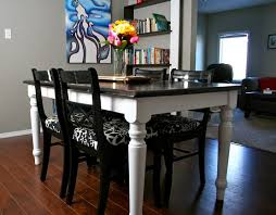 Refinished Top Black Oak Table And Chairs How To Refinish And - Refinish dining room table