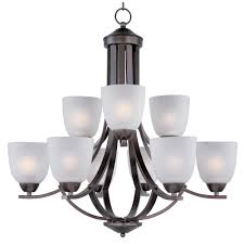 maxim lighting axis 9 light oil rubbed bronze chandelier with