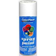 colorplace flat spray paint white walmart com