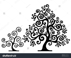 abstract decorative trees stock vector 67787533