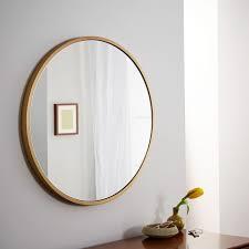 Metal Framed Bathroom Mirrors by Metal Framed Round Wall Mirror West Elm