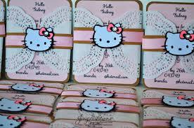 Invitation Card Hello Kitty Hello Kitty Handmade Invitations Invitations And Cards
