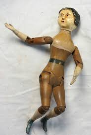 antique wooden doll w metal and legs springfield vt