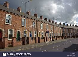 Rowhouses Row Houses In Belfast On An Overcast Afternoon Stock Photo