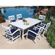 White Patio Furniture Sets White Patio Furniture With Blue Cushions Classic Cape Cod Look